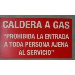 """Letrero """"Sala de Calderas"""""""