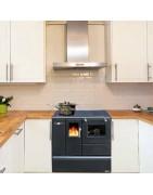 Cocina de pellets Cocina Biomasa Cocina para calentar y cocinar